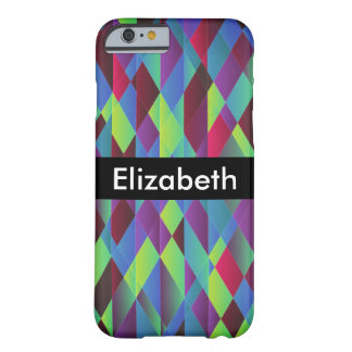 Bright Colorful Square Background with Name Barely There iPhone 6 Case