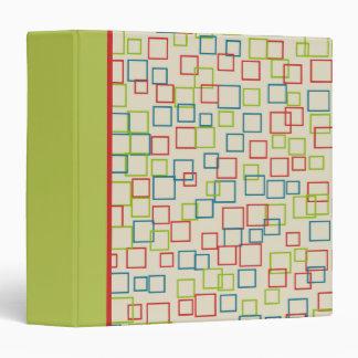 Bright Colorful Squares Binder