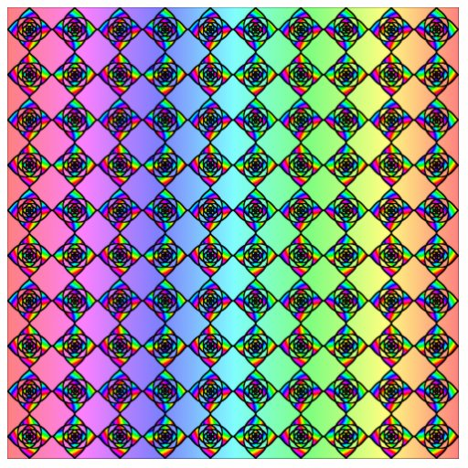Bright Colorful Stained Glass Style Pattern. Photo Cut Outs