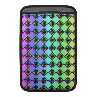 Bright Colorful Stained Glass Style Pattern. Sleeve For MacBook Air