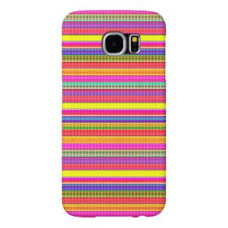 Bright Colorful Stripes Samsung Galaxy S6 Case
