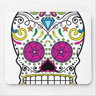 Bright Colorful Sugar Skull-Dia Des Los Muertos Mouse Pad