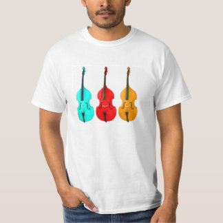 BRIGHT COLORFUL UPRIGHT BASS VIOLINS! T-Shirt