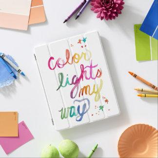 Bright Colorful Watercolor Script Art Rainbow Bold iPad Cover