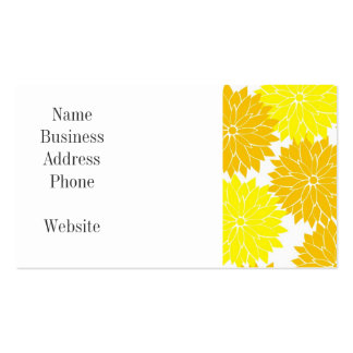 Bright Colorful Yellow Flower Blossoms Floral Business Card