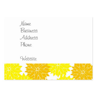 Bright Colorful Yellow Flower Blossoms Floral Large Business Card