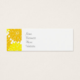 Bright Colorful Yellow Flower Blossoms Floral Mini Business Card