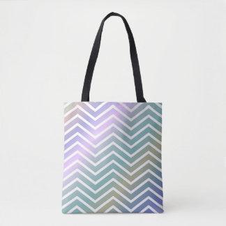 Bright Colorful Zigzag Tote Bag