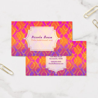 Bright Colors Arabian Moroccan Glam Indian Theme Business Card