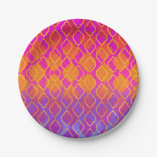 Bright Colors Arabian Moroccan Glam Party Paper Plate