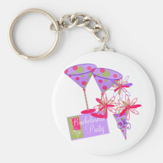 Bright Colors Bachelorette Party Basic Round Button Keychain