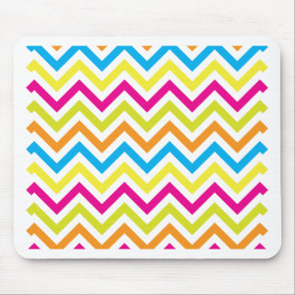 Bright Colors Chevrons Mouse Pad