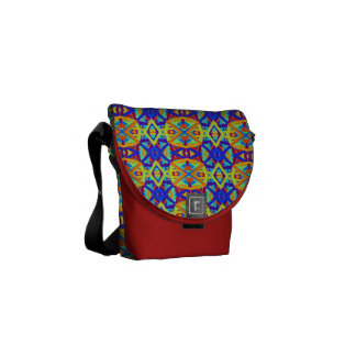 Bright Colors Fun Pattern Courier Bag
