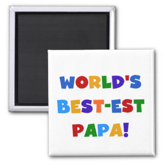 Bright Colors World's Best Papa Tshirts and Gifts Magnet