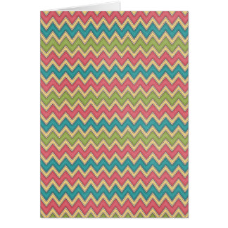 Bright colors Zig Zag Pattern Background Card