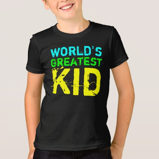 Bright Colour World's Greatest Kid T-Shirt