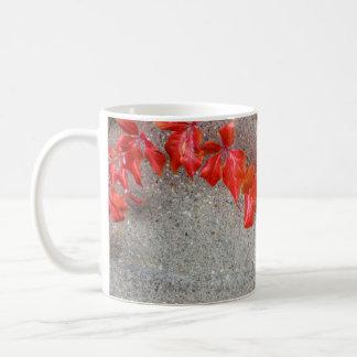 Bright coloured autumn leaves coffee mug