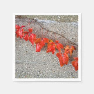 Bright coloured autumn leaves disposable napkins