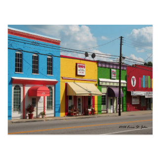 Bright Colourful Buildings Postcard