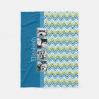 Bright Colourful Chevrons Instagram Photo Collage Fleece Blanket