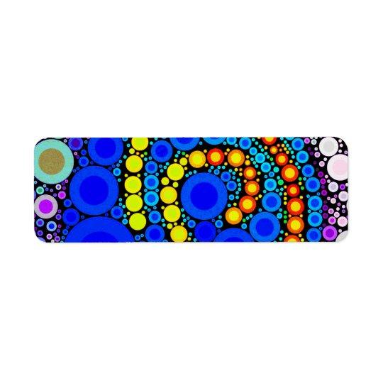Bright Colourful Concentric Circles Swirl Pop Art