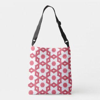 Bright Colourful Construction Paper Geometric Art Crossbody Bag