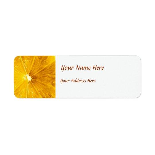 Bright Colourful Lemon Close Up Return Address Label