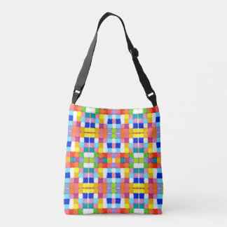 Bright Colourful Marker Original Geometric Artwork Crossbody Bag