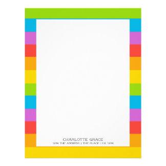Bright Colourful Rainbow Personalized Letterhead