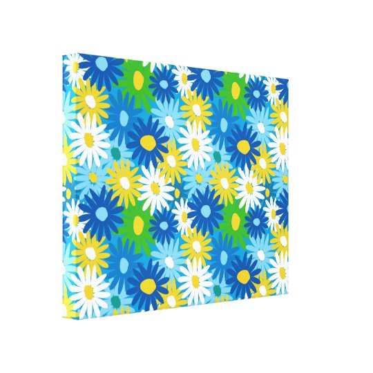 Bright colourful spring daisies wall art