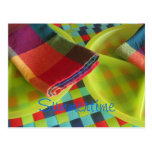 Bright, colourful Summertime postcard or
