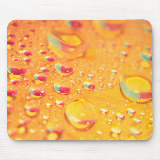 bright colourful water droplet design mouse pad
