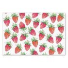 Bright Colourful Watercolor Fruity Strawberries Tissue Paper