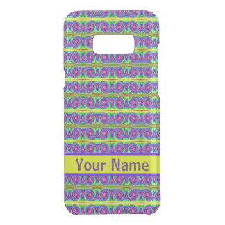 Bright colourful yellow purple curls pattern uncommon samsung galaxy s8 plus case