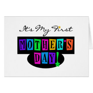 Bright Colours First Mother's Day T-shirts and Card