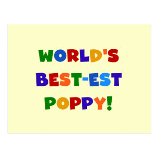 Bright Colours World's Best-est Poppy Gifts Postcard