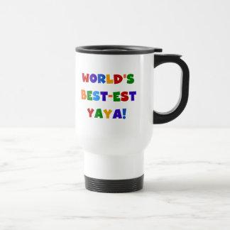 Bright Colours World's Best-est Yaya Gifts Travel Mug