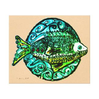 Bright contemporary Friendly Fish fine art print