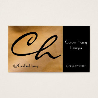 Bright Copper And Black Business Cards