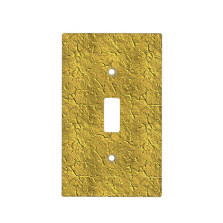 Bright Crackled Gold Light Switch Cover