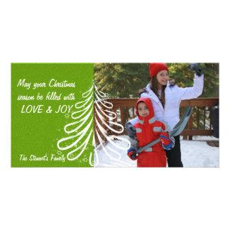 Bright Cristmas Tree Custom Photo Card