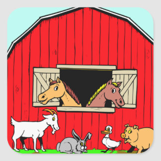 Bright, Cute Barnyard Farmyard Animals Stickers
