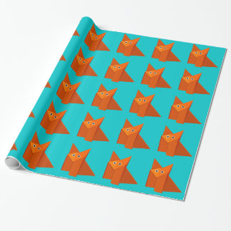 Bright Cute Origami Fox Pattern