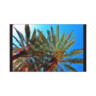 Bright Date Trees Canvas Print
