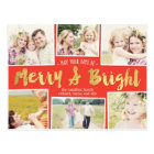 Bright Days Editable Colour Collage Holiday Card