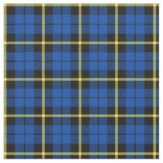 Bright deep royal blue yellow strip plaid print2 fabric