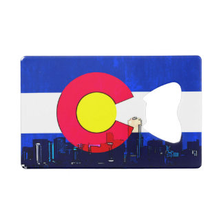Bright Denver Colorado flag card bottle opener Credit Card Bottle Opener