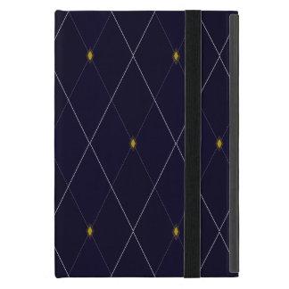 Bright Diamond Navy Argyle Case For iPad Mini
