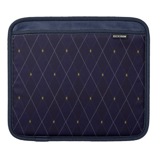 Bright Diamond Navy Argyle iPad Sleeve