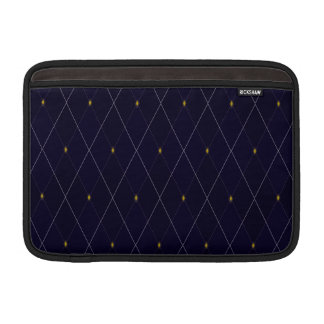 Bright Diamond Navy Argyle MacBook Sleeve